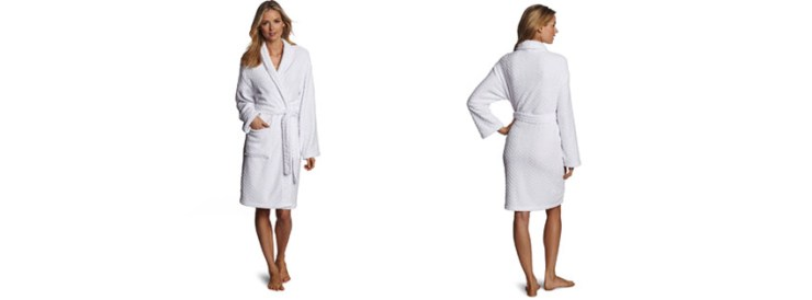Seven Apparel Hotel Spa Collection Herringbone Textured Plush Robe