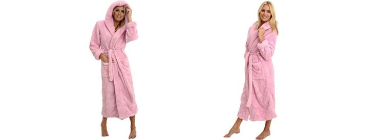 Alexander Del Rossa Womens Microfiber Fleece Bathrobe