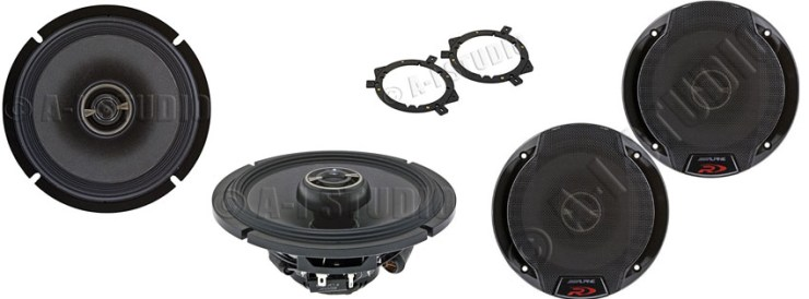 Alpine SPR-60 6-12″ Coaxial 2-Way Speaker Set