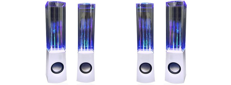 Aolyty Colorful LED Dancing Water Fountain Light Show Sound Speaker