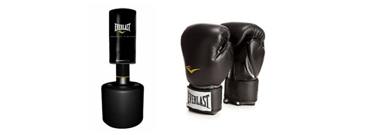 Everlast PowerCore Freestanding Heavy Bag Black