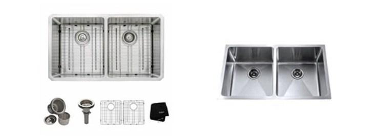 Kraus KHU inch Undermount Double Bowl gauge Kitchen Sink