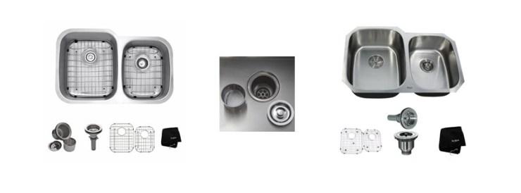 Kraus KBU inch Undermount Double Bowl gauge Kitchen Sink
