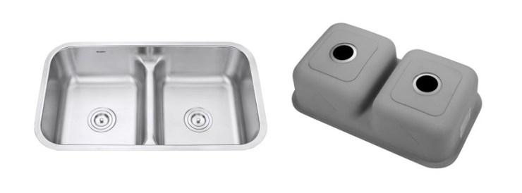 Ruvati RVM Low Divide Undermount Double Bowl Kitchen Sink