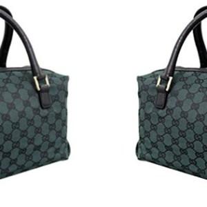 Gucci Dark Green Canvas Joy Boston Handbag