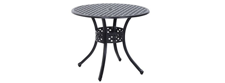 Outsunny Round Cast Aluminum LPG Fire Pit Table