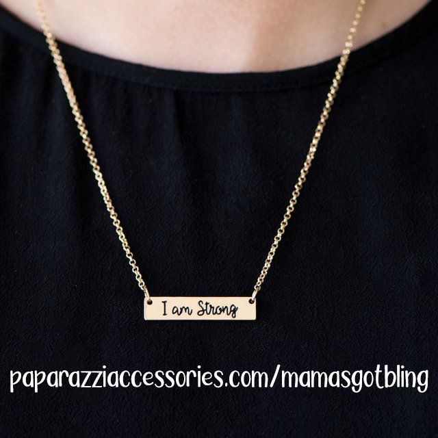 "Paparazzi accessories $5 ""I am Strong"" necklace 