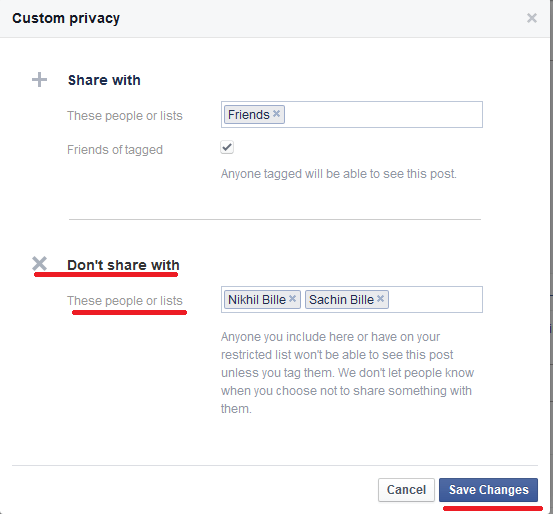 How To Hide Your Facebook Posts From Certain People