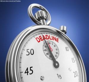 Uhr mit Deadline