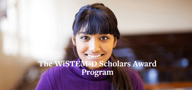 The WiSTEM2D Scholars Award Program for Female Leaders ; 150,000 Dollars award (Deadline: 03 October 2019)