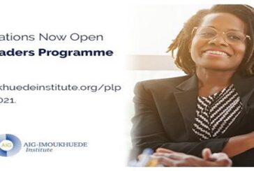 Africa Initiative for Governance (AIG) Public Leaders Programme 2021: (Deadline 19 March 2021)