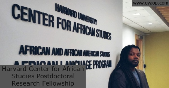 Harvard Center for African Studies Postdoctoral Research Fellowship: (Deadline 17 May 2021)