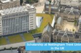 Scholarship at Nottingham Trent University in the UK: (Deadline 30 June 2021)