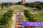 Scholarship at Texas Tech University in the USA: (Deadline 15 October 2021)