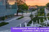 International Awards at UBC in Canada: (Deadline 2 July 2021)