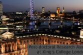 Post-doctoral Research Associate at King's College London: (Deadline 25 July 2021)