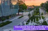 International Awards at University of British Columbia in Canada: (Deadline 2 July 2021)