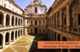 Scholarship at Sapienza University of Rome in Italy: (Deadline 31 May 2021)