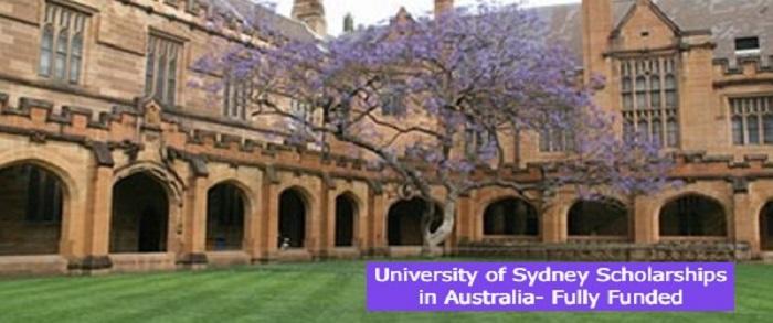 University of Sydney Scholarships in Australia- Fully Funded: (Deadline 31 December 2021)