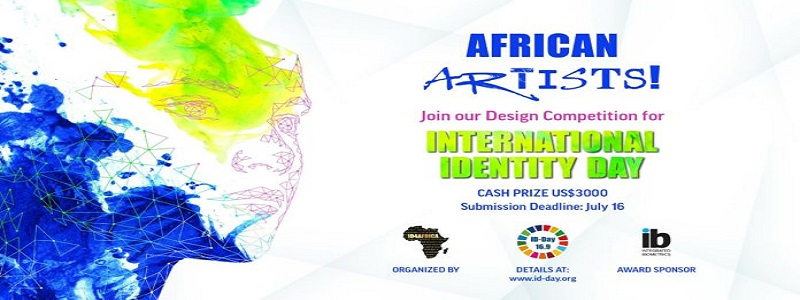 International Identity Day Design Competition 2021 for African Digital Artists (US$3000 prize): (Deadline 16 July 2021)