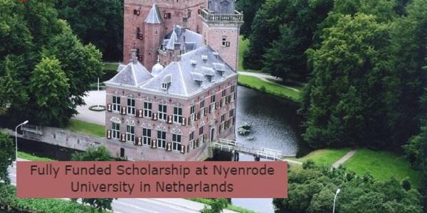 Fully Funded Scholarship at Nyenrode University in Netherlands: (Deadline 1 September 2021)