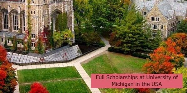 Full Scholarships at University of Michigan in the USA: (Deadline 1 October 2021)