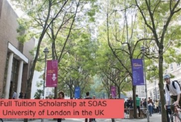 Full Tuition Scholarship at SOAS University of London in the UK: (Deadline 31 March 2023)