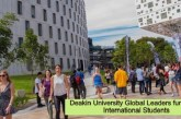 Deakin University Global Leaders funding for International Students: (Deadline 7 November 2022)