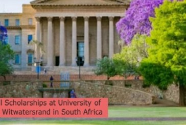 Full Scholarships at University of the Witwatersrand in South Africa: (Deadline 1 August2022)