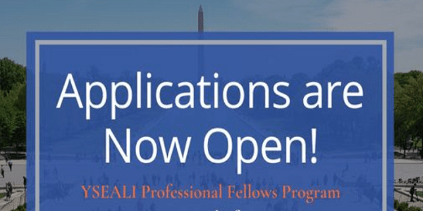 Fully Funded YSEALI Professional Fellows Program    Apply Now: (DeadlineOngoing)