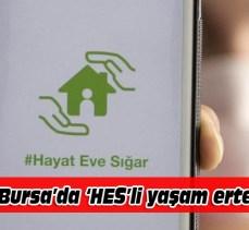 Bursa'da HES kodu zorunluluğu ertelendi!
