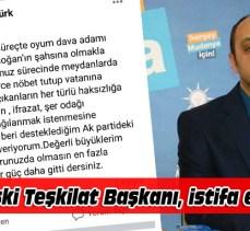 Tahsin Aktürk, Ak Parti'den istifa etti