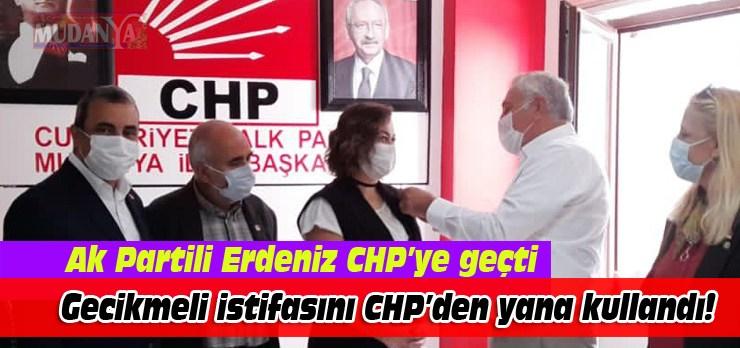 Ak Partili Erdeniz, CHP'ye geçti