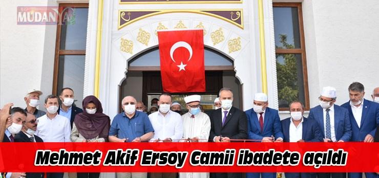 4 yılda tamamlanan Mehmet Akif Ersoy Camii ibadete açıldı