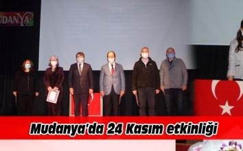 Mudanya'da 9 öğretmene şeref belgesi