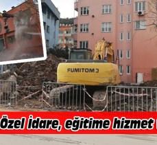 Mudanya'da riskli bina eğitime hizmet verecek