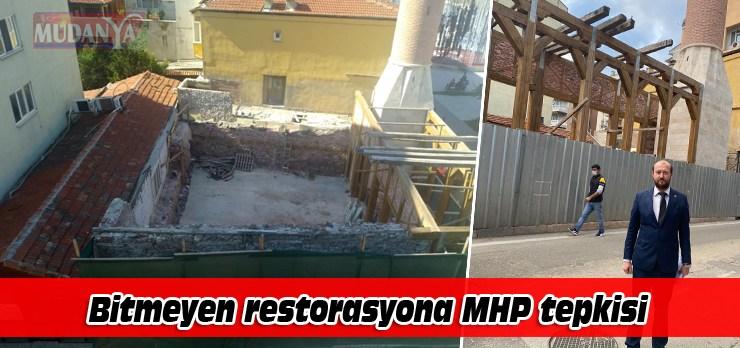 Mudanya'da bitmeyen restorasyona MHP'den tepki
