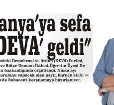 """""""Mudanya'ya sefa için 'DEVA' geldi"""""""