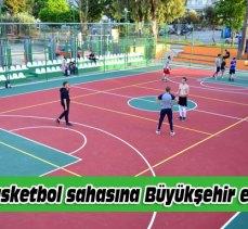 Mudanya'nın ilk basketbol sahasına Büyükşehir eli