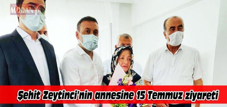 Mudanya'da şehitliklere ve ailelere 15 Temmuz ziyareti
