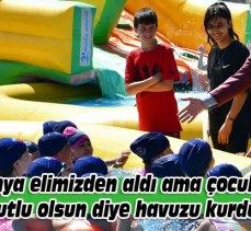 Bursa'da okul bahçeleri Aquapark'a dönüştürüldü