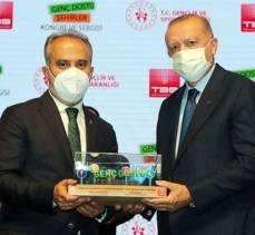 Bursa'nın gençlik ödülü Erdoğan'dan