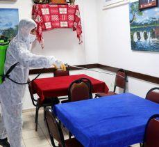 Mudanya'da esnaflara ücretsiz antiviral dezenfektan