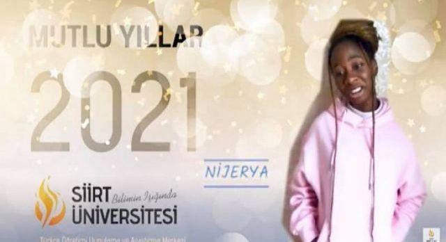 Siirt'te TÖMER öğrencileri ana dillerinde 2021'i kutladı