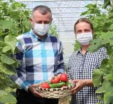 Kocaeli Bayraktar köyünde ilk hasadı, Başkan Büyükakın yaptı