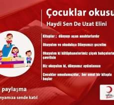 Kilis'te 'Genç Kızılay'cılardan kitap kampanyası