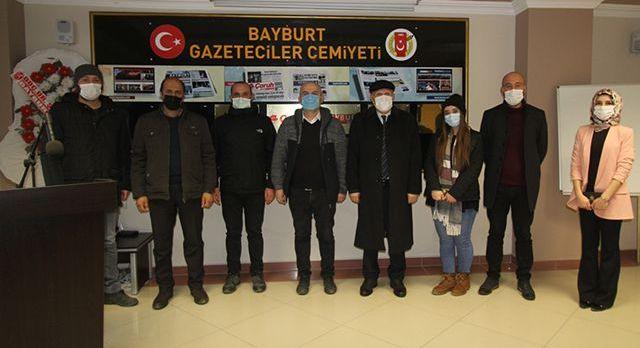 Bayburt'ta Başkan Pekmezci'den gazetecilere ziyaret