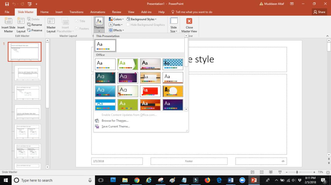 word image 5 - SLIDE MASTER: how touseslide masterin PowerPoint
