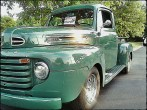 This green classic pick-up truck also made me think of our son.