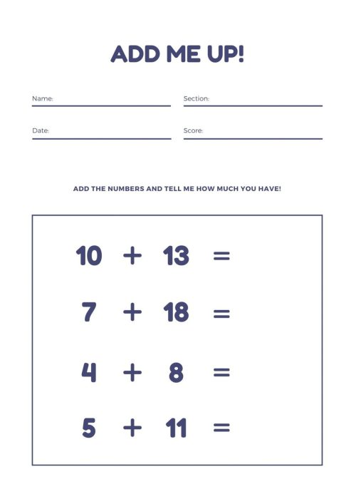 small resolution of free math worksheets Archives - MUDDOO